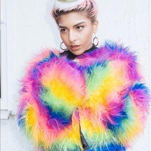 Jackets & Coats - 🚫SOLD🚫 Rainbow Faux Fur Jacket